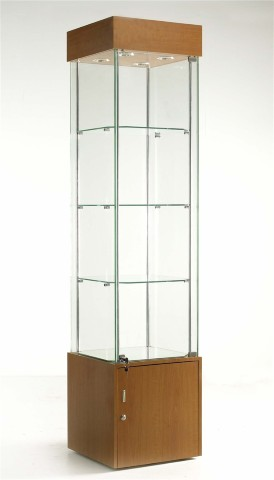 Free-Standing Glass Cabinets