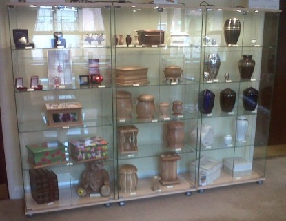 Display Cabinets for funeral homes