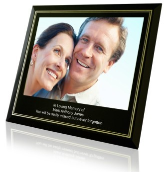 Engraved Memorial Photo Frames