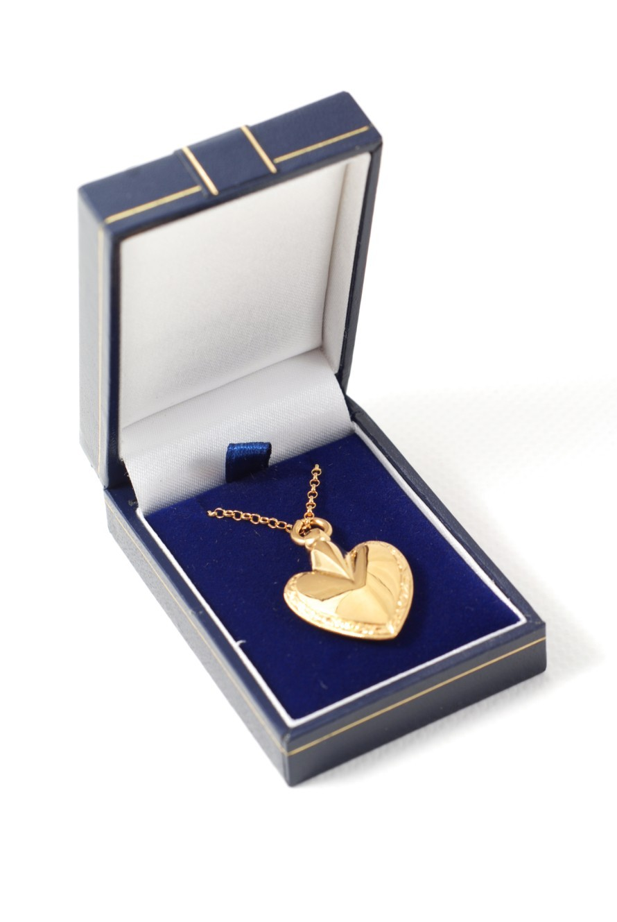 Gold plated over sterling silver heart