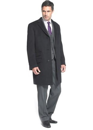 Short Funeral overcoat cashmere blend