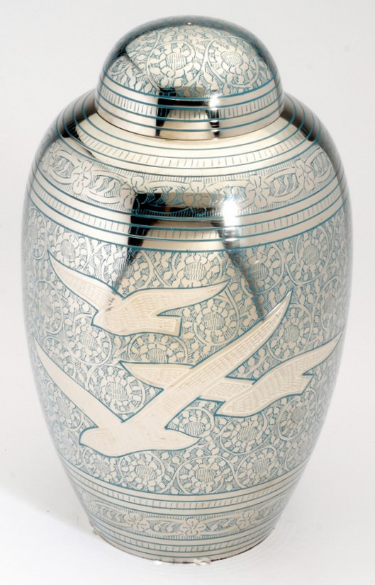 ALTHORP BLUE CREMATION ASHES URN