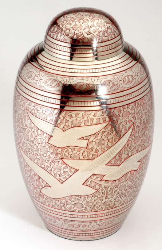 ALTHORP RED CREMATION ASHES URN