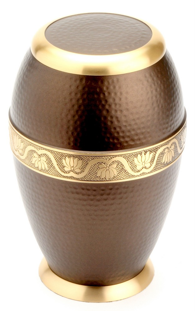 "Large Brass Urn 10"" (Ascot Brown Adult UU100001B 290 CI)"