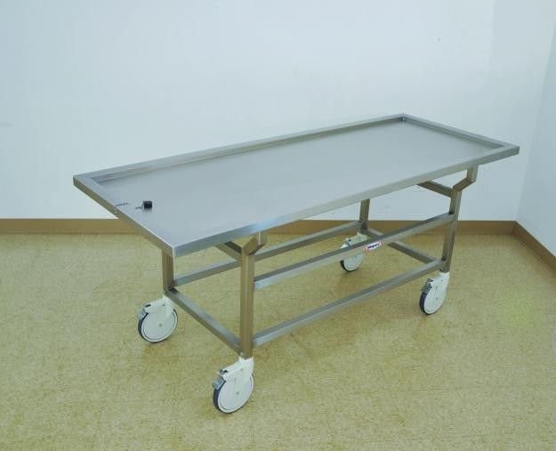 Mortuary table trolley