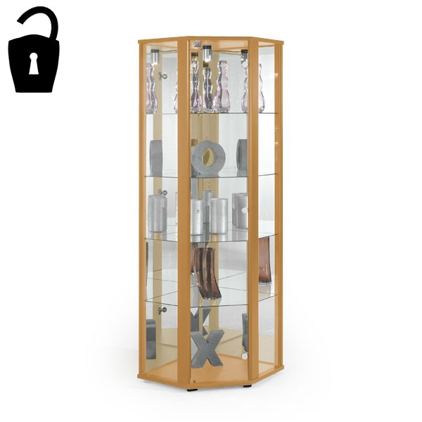 Glass Display cabinet - Beech BS.DCB55