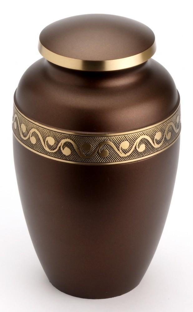 Large Brass Urn (Derby Chocolate UU100013A 210 CI)