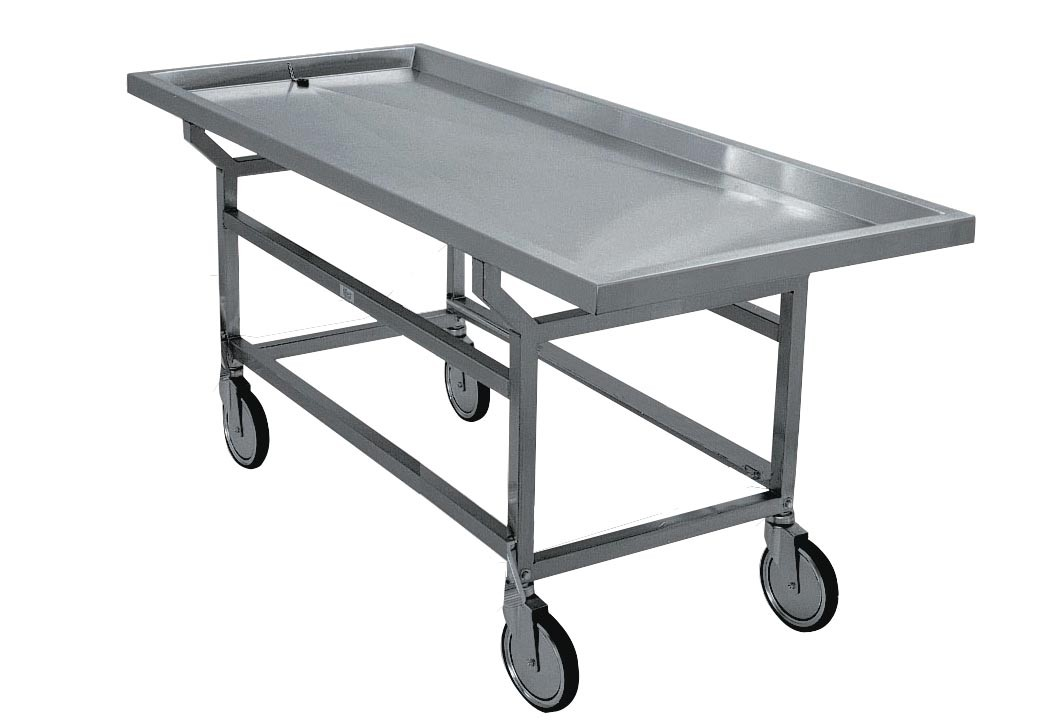Post Mortem Trolley- Removable Grid Plates - DF100