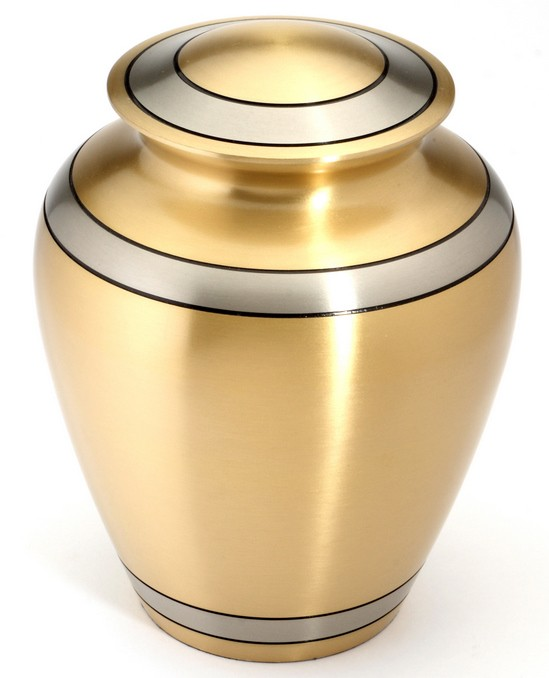 DURHAM BRASS CREMATION ASHES URN
