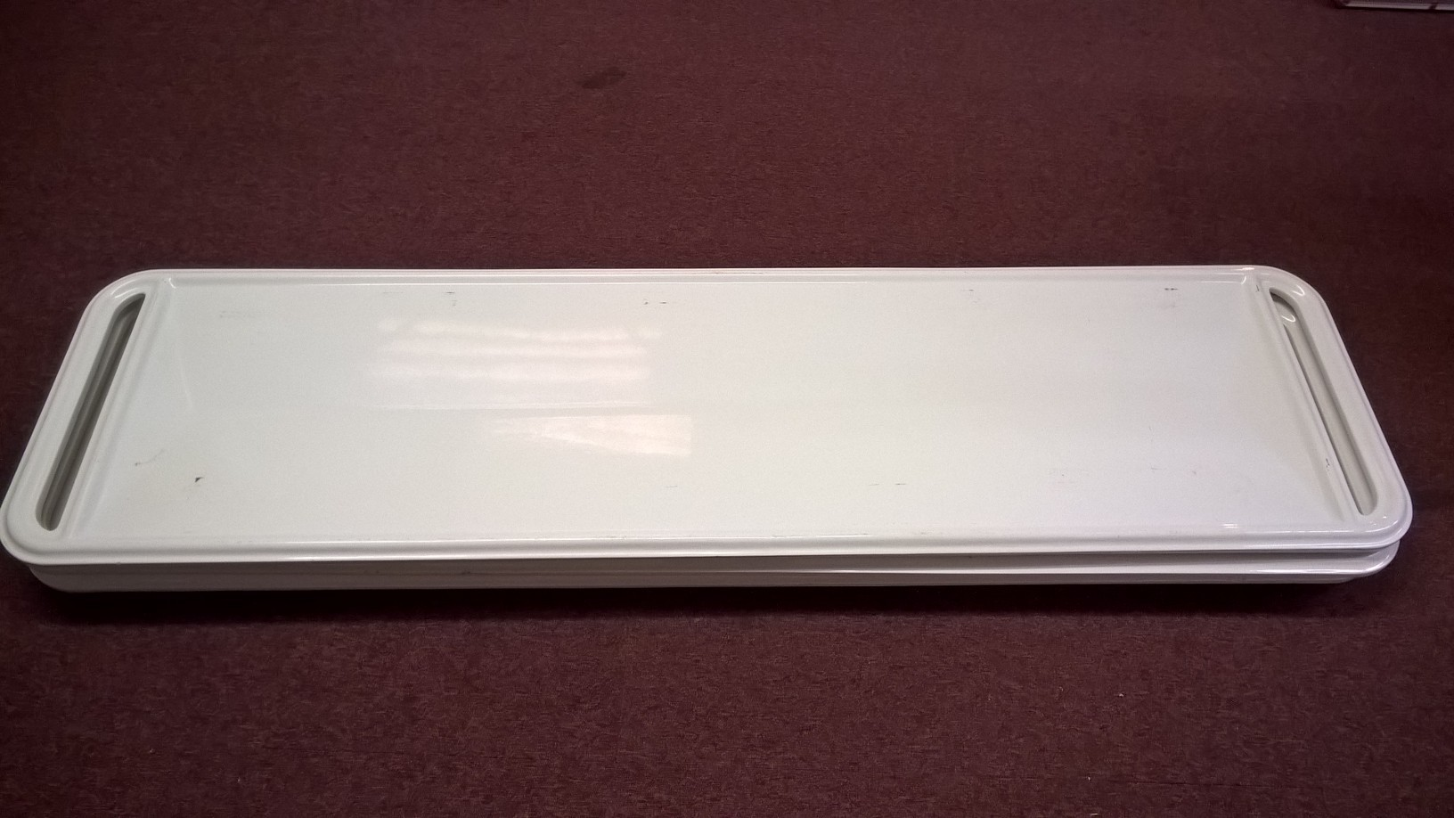 Second hand 560mm wide Fibreglass body trays with guide runners