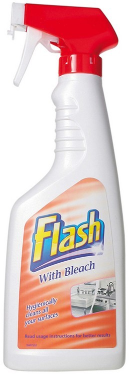 Flash Kitchen Spray with Bleach 6 x 750ml