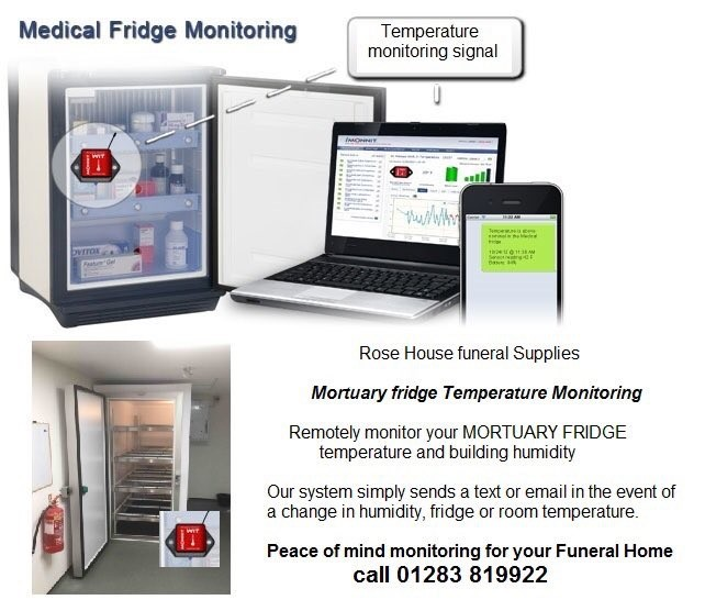mortuary fridge temperature monitoring system