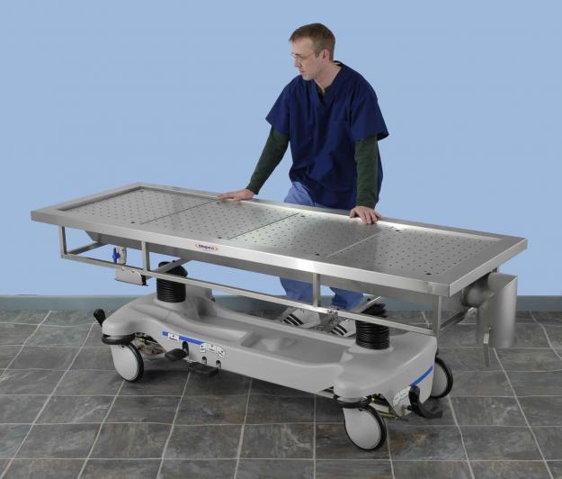 Embalming downdraft tilting table