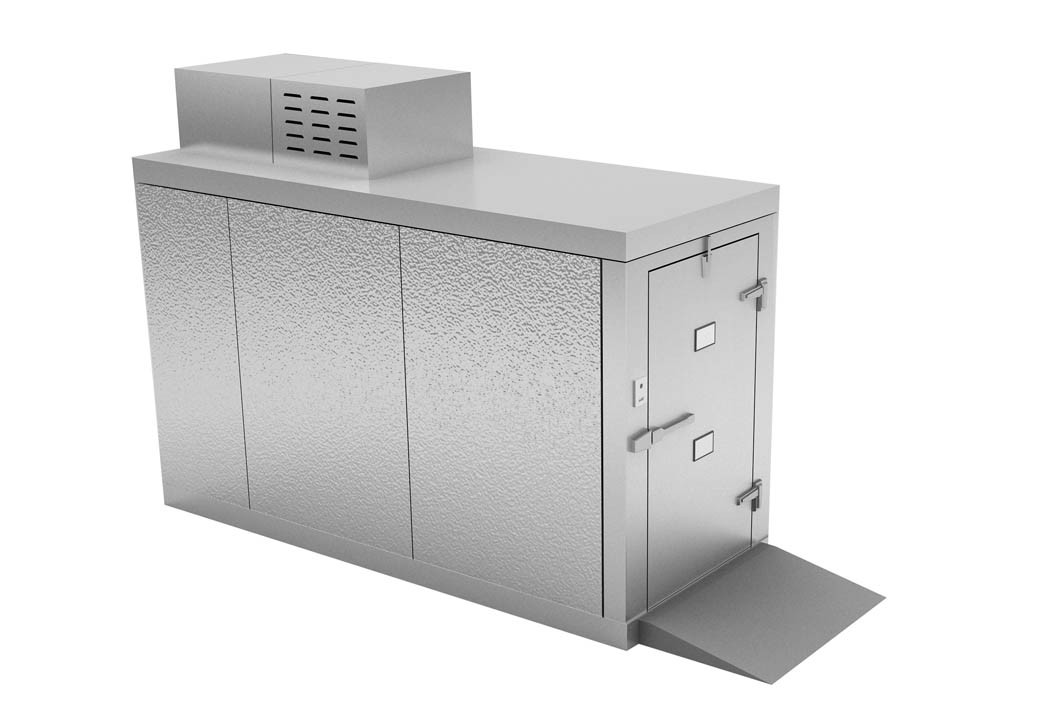"""Mortuary Fridge (2 BODY) Roll in - For 23"""" TRAY CARRIER - KB100"""