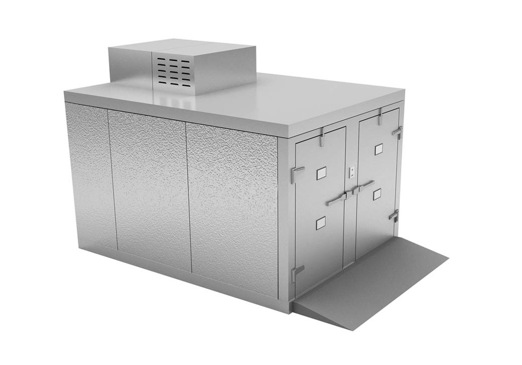 """Mortuary Fridge (4 BODY) Roll in - For 23"""" Tray Carrier - KB200"""