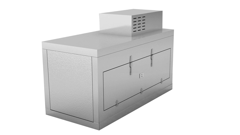 Mortuary Fridge 1 BODY -  Side opening (Conveyor Style) - KI100