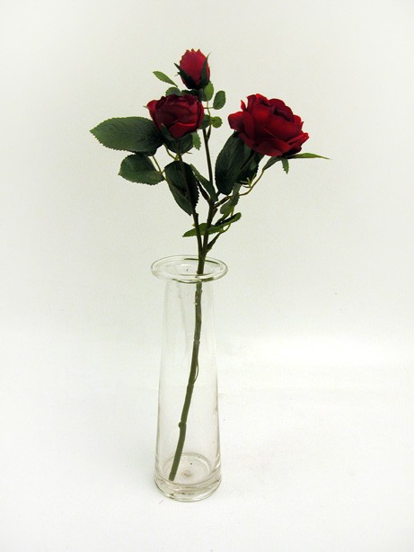 Prize Rose Spray Red 42cm