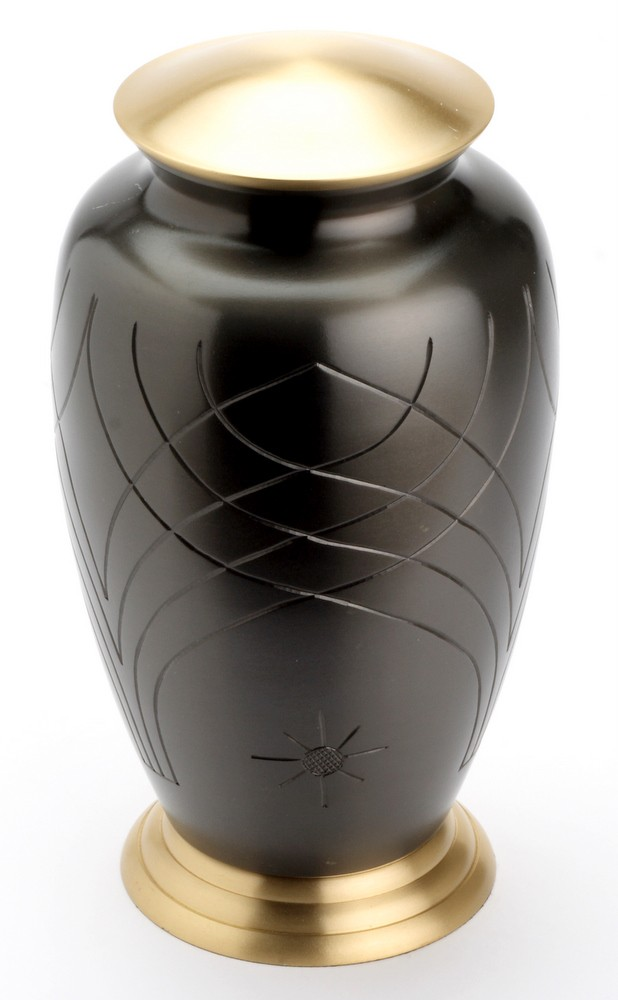 ROCHESTER BLACK CREMATION ASHES URN