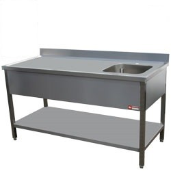 Mortuary Stainless Steel Work Station with sink