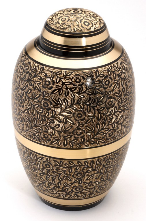 "Large Brass Urn 10"" (Westminster Black UU100003A 205 CI)"